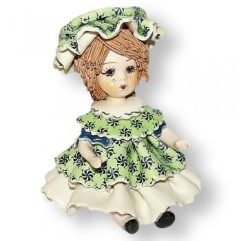 Статуэтка Девочка в зеленом платье