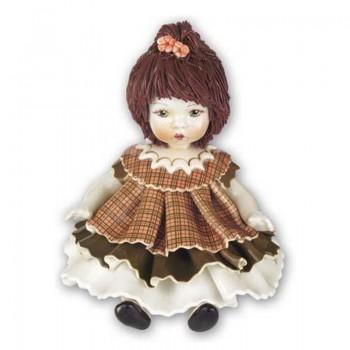 Статуэтка Девочка в коричневом