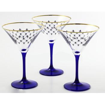 Набор из 6 бокалов для мартини Кобальтовая сетка