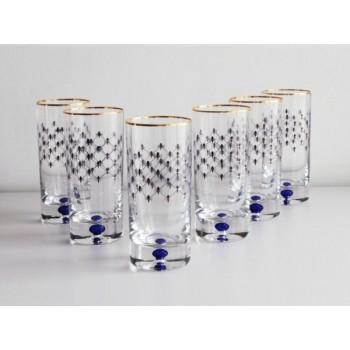 """Набор из 6 стаканов """"Кобальтовая сетка"""""""
