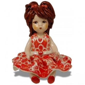Статуэтка Девочка в красном