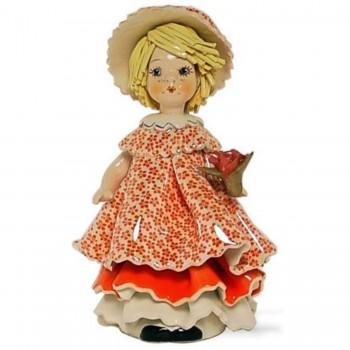 Статуэтка Девочка с букетом цветов