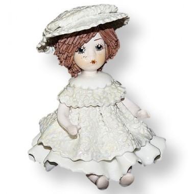 Статуэтка Девочка в белом платье