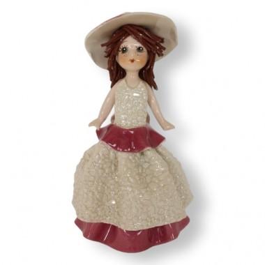 """Статуэтка """"Девочка в бело-розовом платье"""""""