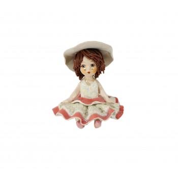 Статуэтка Девочка в бело-розовом платье