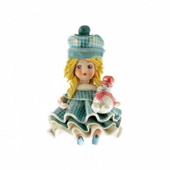 Статуэтка Девочка со снеговиком