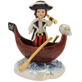 Статуэтка Пират в лодке