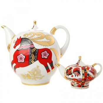 Комплект чайников Красный конь