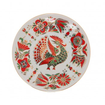 Декоративная тарелка Красная птица