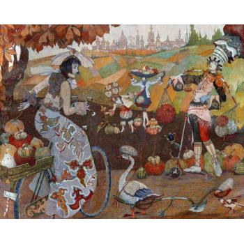 Картина Осень. Земля. Краковские тыквы