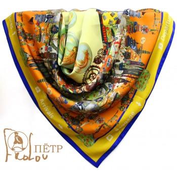 Шелковый платок Круговорот