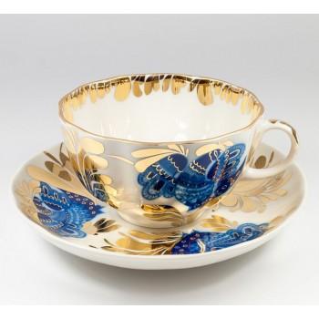 Чашка с блюдцем Золотой сад