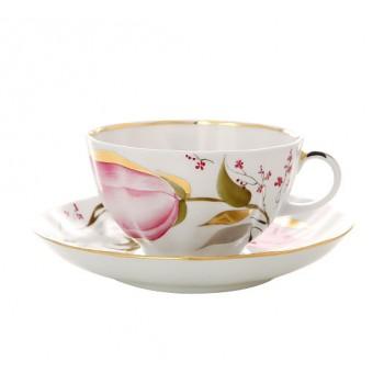 """Чайная пара """"Розовые тюльпаны"""""""