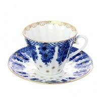 Чашка с блюдцем Корзиночка