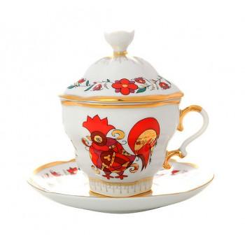 Чайная пара с крышкой Сувенир