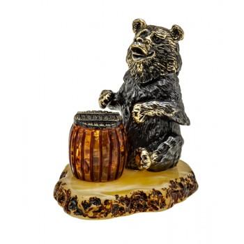 Фигурка Медведь с бочонком меда