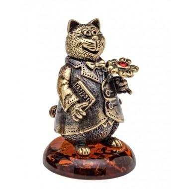 Колокольчик Кот с цветком