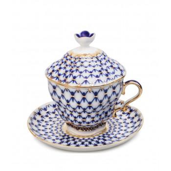 Чайная пара подарочная Кобальтовая сетка
