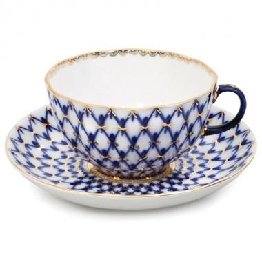 Чашка с блюдцем Кобальтовая сетка