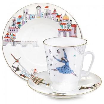 Трехпредметный комплект кофейный Ромео и Джульетта