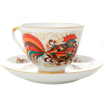 Чайная пара Красный петух