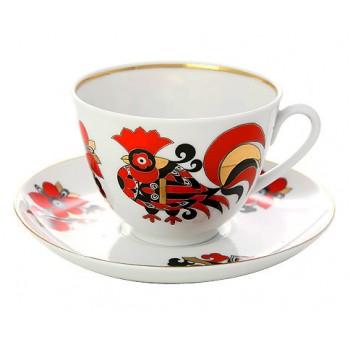 """Чайная пара """"Красные петушки"""""""