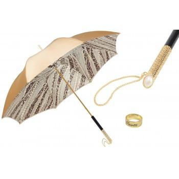 Зонт женский LIGHT GOLD PEARLS