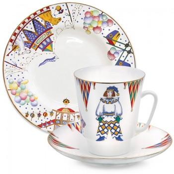 Трехпредметный комплект кофейный Петрушка
