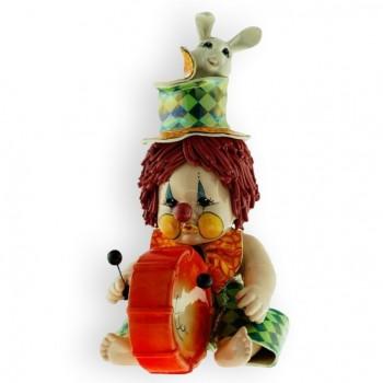 Статуэтка Клоун-барабанщик с кроликом
