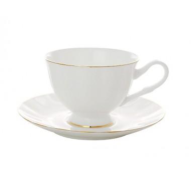 Чашка с блюдцем Золотая лента