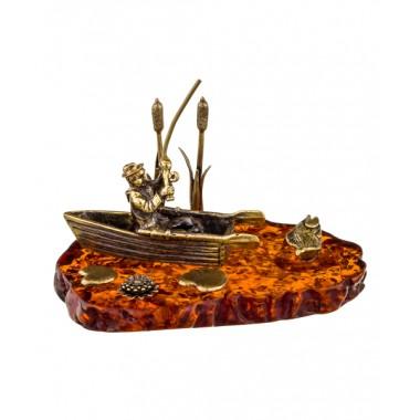 Фигурка Рыбак в лодке