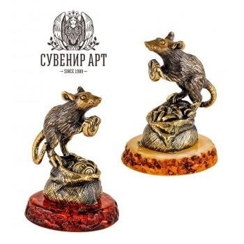 Сувенир Крыса денежная на мешке