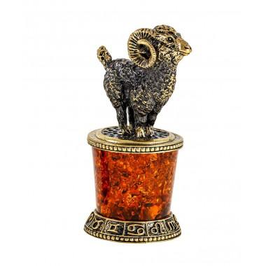 Сувенир Знак зодиака Овен на постаменте