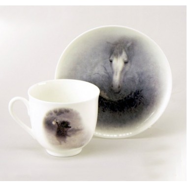"""Подарочный набор. Кофейная пара """"Ежик в тумане. Лошадь"""""""