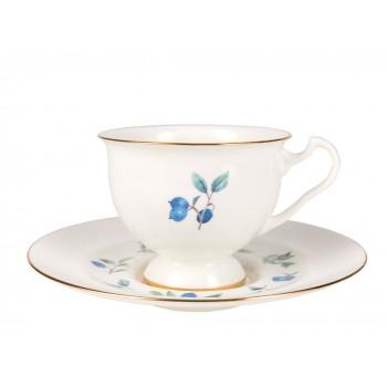 Чашка с блюдцем Голубика