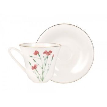 Чашка с блюдцем Гвоздика