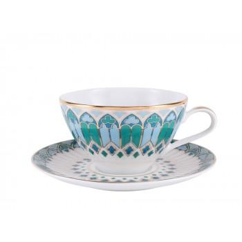 Чашка с блюдцем Готика