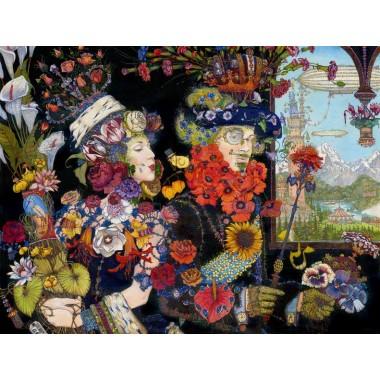 Картина Буква Ц. Царь цветов
