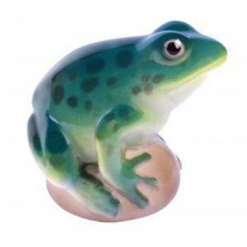 Скульптура Лягушка бирюзовая