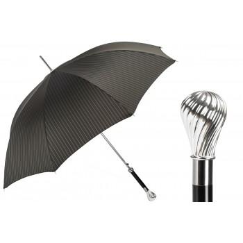 Мужской зонт Silver Knob Handle