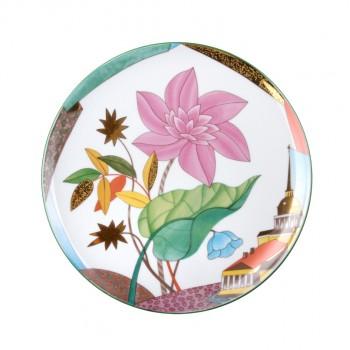 "Декоративная тарелка ""Цветущий город"""