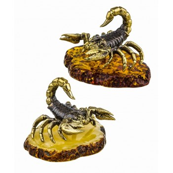 Сувенир Скорпион каменный на подставке