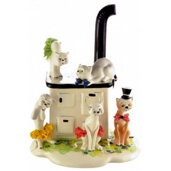 Статуэтка Кошки на печи
