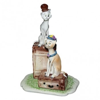 "Статуэтка ""Кот и кошка-путешественники"""