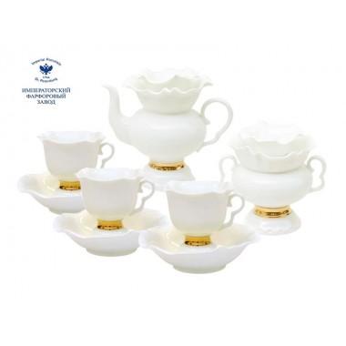 Чайный сервиз Белый цветок