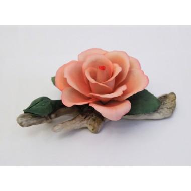 """Фарфоровый цветок """"Роза на ветке"""""""