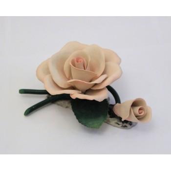 Фарфоровый цветок Роза с бутоном