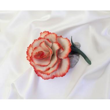 """Фарфоровый цветок """"Гвоздика"""""""