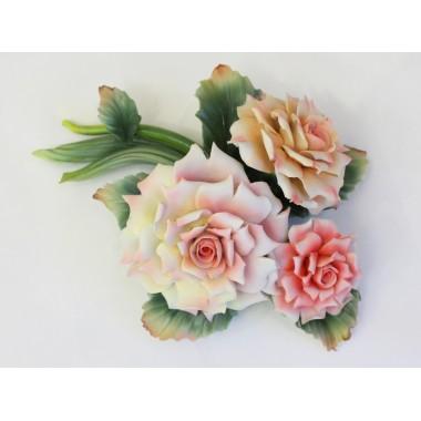 """Фарфоровая скульптура """"Букет роз"""""""