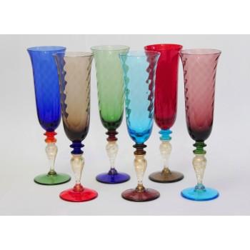 Цветные фужеры для шампанского